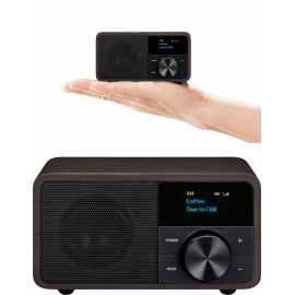 Sangean compacte DAB+/FM/Bluetooth Radio -  Donker hout